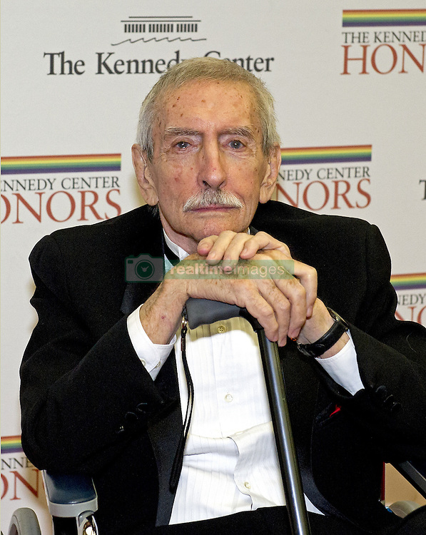 September 16, 2016 - Edward Albee, who won three Pulitzer Prizes and who wrote 'Who's Afraid of Virginia Woolf,' 'The Zoo Story,' 'Three Tall Women' and 'A Delicate Balance,' died Friday. He was 88. Albee died at his home in Montauk, N.Y. after an illness. PICTURED: Dec. 1, 2012 - Washington, District of Columbia, United States of America - EDWARD ALBEE arrives for the formal Artist's Dinner honoring the recipients of the 2012 Kennedy Center Honors hosted by United States Secretary of State Hillary Rodham Clinton at the U.S. Department of State. (Credit Image: © Ron Sachs/CNP/ZUMAPRESS.com)