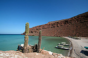 Isla Espíritu Santo (Espiritu Santo Island) is a large (102 km2) island surrounded by a set of smaller islets known as Isla Partida, Los Islotes, La Ballena, El Gallo and La Gallina. It lies some 20 km east of La Paz in Baja California Sur, Mexico. Because of its proximity to La Paz Bay, the island has been intensely used in the past and is still the most heavily visited island in the Sea of Cortés. It is littered with evidence of pre-Hispanic occupancy by the Pericú people. In the 19th century Don Gastón Vivés established the first pearl oyster farm in the world here.<br /> The island is uninhabited, but has a luxury eco camp in one of the bays from May to October. There is no internet or phone connection (a paradise!). Around the Espiritu Santo Island you can kayak, snorkel, catch fish, swim with sea lions, watch the colonies of dolphins swim by, enjoy romantic starry nights and more...