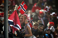 Hopp<br /> FIS World Cup<br /> Foto: Gepa/Digitalsport<br /> NORWAY ONLY<br /> <br /> OSLO,NORWAY,06.FEB.16 - NORDIC SKIING, SKI JUMPING - FIS World Cup, Holmenkollen, large hill, team competition, men. Image shows Daniel Andre Tande (NOR).