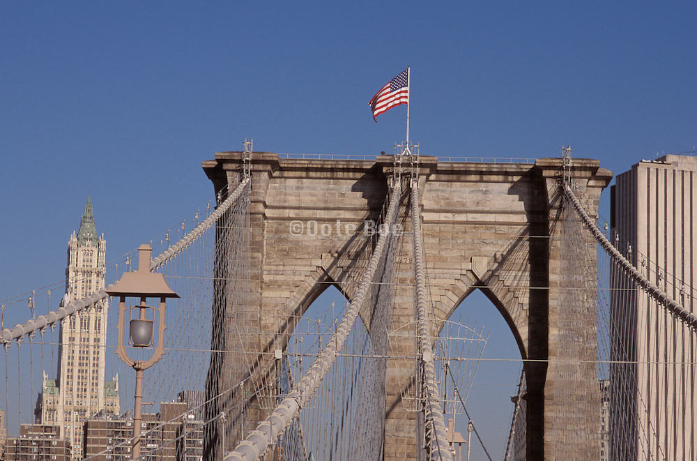 Detail of the Brooklyn Bridge