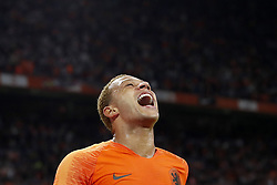 Memphis Depay of Holland during the International friendly match match between The Netherlands and Peru at the Johan Cruijff Arena on September 06, 2018 in Amsterdam, The Netherlands