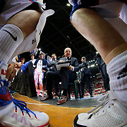 Anadolu Efes's coach Dusan Ivkovic during their Turkish Basketball League Play Off Semi Final round 2 match Anadolu Efes between Trabzonspor at Abdi Ipekci Arena in Istanbul Turkey on Friday 31 May 2015. Photo by Aykut AKICI/TURKPIX