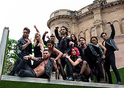 Edinburgh, Scotland, UK; 31 July, 2018. Dance group Burn the Floor: Rebels of Ballroom at a photo Call prior to performances the Edinburgh Fringe Festival. Appearing for the first time at the Fringe the company has reinvented Ballroom dance styles.