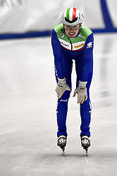 February 9, 2019 - Torino, Italia - Foto LaPresse/Nicolò Campo .9/02/2019 Torino (Italia) .Sport.ISU World Cup Short Track Torino - Ladies 500 meters Quarterfinals .Nella foto: Martina Valcepina..Photo LaPresse/Nicolò Campo .February 9, 2019 Turin (Italy) .Sport.ISU World Cup Short Track Turin - Ladies 500 meters Quarterfinals.In the picture: Martina Valcepina (Credit Image: © Nicolò Campo/Lapresse via ZUMA Press)