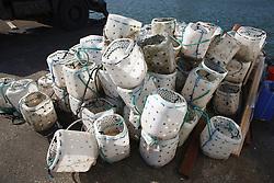 Crab pots on quayside