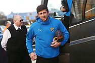Oxford United's John Mousinho (15), an ex Brewers player  arrives at the Stadium during the EFL Sky Bet League 1 match between Burton Albion and Oxford United at the Pirelli Stadium, Burton upon Trent, England on 2 February 2019.