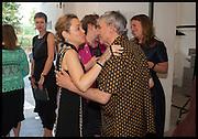 FREDDIE PIERRE PIERRE; ROBIN KLASSNIK, Matt's Gallery 35th birthday fundraising supper.  42-44 Copperfield Road, London E3 4RR. 12 June 2014.