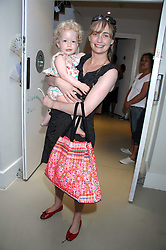 CLEMENTINE FRASER and her daughter RUBY at a party to celebrate the 21st birthday of the children's charity Starlight held at Maggie & Rose, 58 Pembroke Road, London W8 on 12th May 2008.<br /><br />NON EXCLUSIVE - WORLD RIGHTS