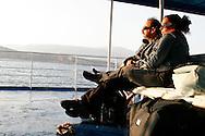 Greece: Tourist in a ferryboat. Grecia: Turisti in traghetto