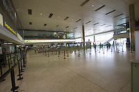 April 18th 2010 An empty departure area at Dublin Airport as all flights in Ireland are cancelled due to the ash cloud from a volcano in Eyjafjallajokull in Iceland