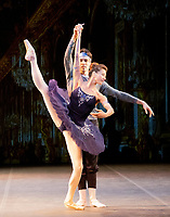 Maia Makhateli and James Stout at the rehearsal for the BALLET ICONS GALA 2020 evening of world class ballet celebrating the Russian Ballet School