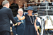 Koningin Maxima doopt het cruiseschip ms Koningsdam van Holland America Line in Rotterdam.<br /> <br /> Queen Maxima at the cruise ship ms Koningsdam Holland America Line in Rotterdanm for namen the ship.<br /> <br /> op de foto / On the photo:  Koningin Maxima doopt het cruiseschip ms Koningsdam //  Queen Maxima names the cruise ship ms Koningsdam