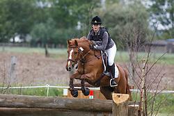 Deschrijvere Lieze (BEL) - Jolly's Dallas<br /> Nationaal Kampioenschap Eventing Pony's <br /> LRV Gavere 2014<br /> © Dirk Caremans