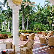 Outdoor sitting area. Hotel Casa Velas Puerto Vallarta.
