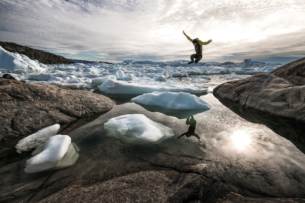 The Ilulissat Icefjord is the most productive glacier in the Northern Hemisphere, produsing enormous about of icebergs that sail and melt for a few years at Disco bay. The ones that escape the bay, drift with the current south to the Labrador and Newfoundland coast.
