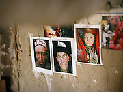 Inside the Khan house, Matthieu Paley sees his pictures of Afghan Kyrgyz, shot few years earlier, on a wall.