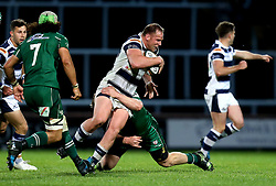 Mike Mayhew of Yorkshire Carnegie is tackled - Mandatory by-line: Robbie Stephenson/JMP - 17/05/2017 - RUGBY - Headingley Carnegie Stadium - Leeds, England - Yorkshire Carnegie v London Irish - Greene King IPA Championship Final 1st Leg