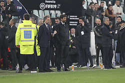 March 8, 2019 - Turin, Piedmont, Italy - Andrea Agnelli and Fabio Paratici before the Serie A football match between Juventus FC and Udinese Calcio at Allianz Stadium on March 08, 2019 in Turin, Italy..Juventus won 4-1 over Udinese. (Credit Image: © Massimiliano Ferraro/NurPhoto via ZUMA Press)