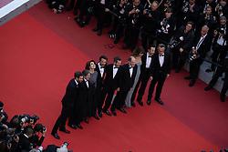 May 20, 2019 - Cannes, France - 72eme Festival International du Film de Cannes. Montée des marches du film ''La Belle Epoque'' depuis la terrasse du palais. 72th International Cannes Film Festival. Red Carpet for ''La Belle Epoque'' movie from the rooftop....239578 2019-05-20  Cannes France.. Auteuil, Daniel; Ardant, Fanny; Canet, Guillaume; Cohen, Michael; Podalydès, Denis; Bedos, Nicolas; Tillier, Doria (Credit Image: © Terence Baelen/Starface via ZUMA Press)