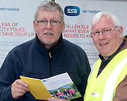Pat Griffin HSA and Billy Nultey of ESB Networks attending 'SHEEP2015', the major National Sheep Open Day hosted by Teagasc at Athenry on Saturday. Photo:- Andrew Downes / xposure.ie  No Fee. Issued on behalf of Teagas
