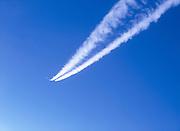 Contrails Boeing Business Jet commercial contrails