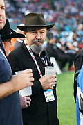 American actor David Costabile on the Dallas Renegade sideline during a XFL professional football game, Saturday, February 9, 2020, at Globe Life Park, Arlington Texas. he  Battlehawks defeated the Renegades 15-9. (Wayne Gooden/Image of Sport)