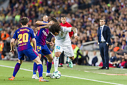 May 6, 2018 - Barcelona, Catalonia, Spain - Real Madrid defender Marcelo (12), FC Barcelona midfielder Philippe Coutinho (14) and FC Barcelona midfielder Sergi Roberto (20) during the match between FC Barcelona v Real Madrid, for the round 36 of the Liga Santander, played at Camp nou  on 6th May 2018 in Barcelona, Spain. (Credit Image: © Urbanandsport/NurPhoto via ZUMA Press)