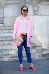 Street style, blogger Trine Kjaer (Trineswardrobe) arriving at Stella McCartney Spring Summer 2017 show held at Opera Garnier, in Paris, France, on October 3, 2016. Photo by Marie-Paola Bertrand-Hillion/ABACAPRESS.COM