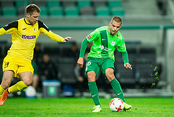 Josip Balic of Radomlje vs Da Silva Coelho Ricardo Alves of NK Olimpija during football match between NK Olimpija Ljubljana and NK Kalcer Radomlje in Round #29 of Prva liga Telekom Slovenije 2016/17, on April 17, 2017 in SRC Stozice, Ljubljana, Slovenia. Photo by Vid Ponikvar / Sportida