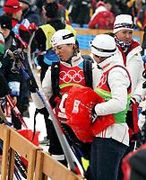 OL 2006 Langrenn kvinner stafett,<br />Pragelato Plan<br />18..02.06 <br />Foto: Sigbjørn Hofsmo, Digitalsport <br /><br />Kristin Stormer Steira -  Hilde Gjermundshaug Pedersen -  og Kristin Murer Stemland NOR - Norge
