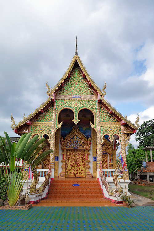 Buddhist temple in the village of Ban Mae Jo, Northern Thailand.