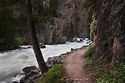 Stillwater river during heavy runoff, Montana.