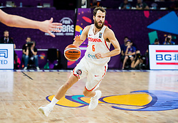 Sergio Rodriguez of Spain during basketball match between National Teams  Spain and Russia at Day 18 in 3rd place match of the FIBA EuroBasket 2017 at Sinan Erdem Dome in Istanbul, Turkey on September 17, 2017. Photo by Vid Ponikvar / Sportida