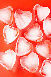 Dec. 13, 2012 - Heart shaped ice cubes (Credit Image: © Image Source/ZUMAPRESS.com)