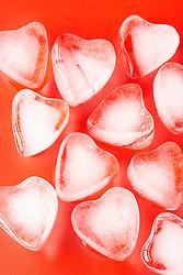 Dec. 13, 2012 - Heart shaped ice cubes (Credit Image: © Image Source/ZUMAPRESS.com)