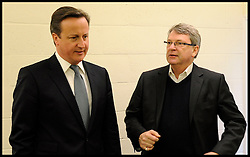 The Prime Minister David Cameron with Boris Johnson's  Campaign Director Lynton Crosby, April 17, 2012. Photo By Andrew Parsons/I-images