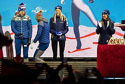 February 23, 2019 - Seefeld In Tirol, AUSTRIA - 190223 Charlotte Kalla of Sweden and Frida Karlsson of Sweden and Ingvild Flugstad Østberg of Norway at the medal ceremony for women's cross country skiing skiathlon during the FIS Nordic World Ski Championships on February 23, 2019 in Seefeld in Tirol..Photo: Joel Marklund / BILDBYRÃ…N / kod JM / 87887 (Credit Image: © Joel Marklund/Bildbyran via ZUMA Press)