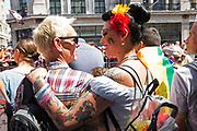 Pride in London parade on Regents Street on the 7th July 2018 in central London in the United Kingdom. 30,000 marched through central London for the city's annual LGBT Pride celebration.