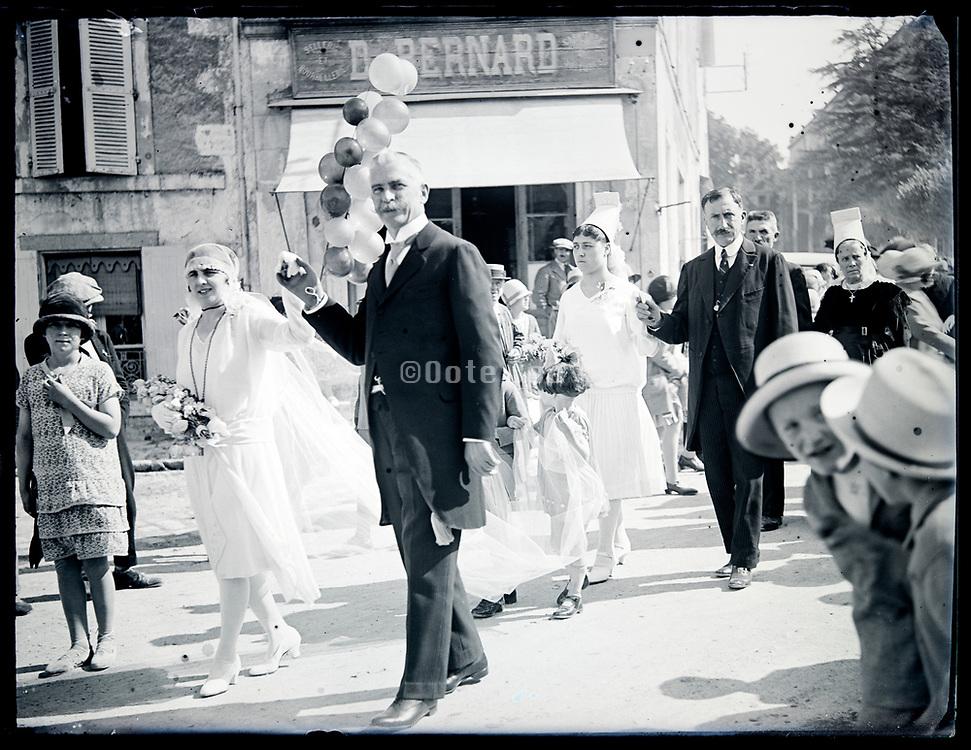wedding ceremony parade France circa 1930s
