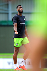 Jamille Matt of Forest Green Rovers warms up prior to kick off- Mandatory by-line: Nizaam Jones/JMP - 05/09/2020 - FOOTBALL - New Lawn Stadium - Nailsworth, England - Forest Green Rovers v Leyton Orient - Carabao Cup
