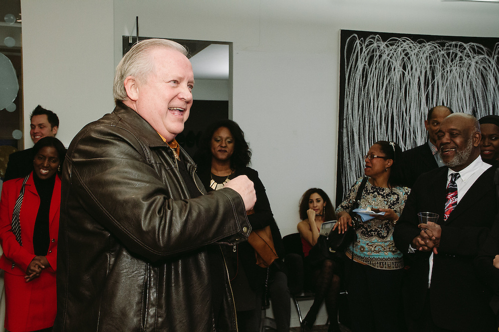 NEW YORK - March 27: Tom Eisenhauer emcees FOKAL's The Promise of Haiti II Event. Photographed March 27, 2015 at the Medici Group in NY, NY. 2015 © Cat Laine.