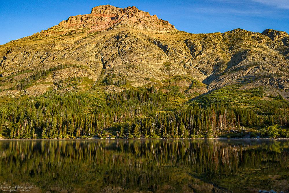 Two Medicine Lake, Rising Wolf Mountain