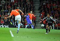 EURO 2008 M14 Stade Suisse  Berne France v Holland  12.06.2008<br /> Robin van Persie  (Holland) scores second goal<br /> Photo Roger Parker Fotosports International