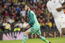 October 15, 2018 - Seville, Spain - DAVID DE GEA of Spain in action during the UEFA Nations League Group A4 soccer match between Spain and England at the Benito Villamarin Stadium (Credit Image: © Daniel Gonzalez Acuna/ZUMA Wire)