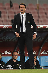 April 18, 2018 - Naples, Naples, Italy - Head coach of Udinese Calcio Massimo Oddo during the Serie A TIM match between SSC Napoli and Udinese Calcio at Stadio San Paolo Naples Italy on 18 April 2018. (Credit Image: © Franco Romano/NurPhoto via ZUMA Press)