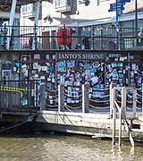 Ianto's Shrine at Mermaid Quay, Cardiff Bay redevelopment, Cardiff, South Wales, UK