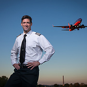 Rod Harrell, airline pilot and graduate of George Mason University School of Law.