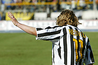 Parma 18/4/2004 Campionato Italiano Serie A <br />30a Giornata - Matchday 30 <br />Parma Juventus 2-2 <br />Pavel Nedved (Juventus)<br /> Foto Graffiti