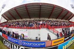 Falkirk fans..Hamilton 1 v 2 Falkirk, Scottish Cup quarter-final, Saturday, 2nd March 2013..©Michael Schofield.