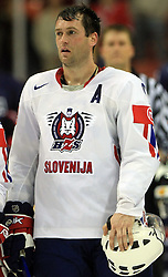 Tomaz Razingar (9) of Slovenia at ice-hockey match USA vs Slovenia at Preliminary Round (group B) of IIHF WC 2008 in Halifax, on May 04, 2008 in Metro Center, Halifax, Nova Scotia, Canada. (Photo by Vid Ponikvar / Sportal Images)